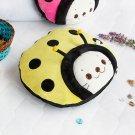Sirotan - Ladybug Yellow Blanket Pillow Cushion / Travel Pillow Blanket