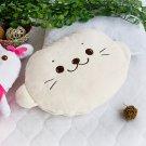 Sirotan Coral Fleece Throw Blanket Pillow Cushion / Travel Pillow Blanket
