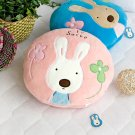 Sugar Rabbit - Round Pink Blanket Pillow Cushion / Travel Pillow