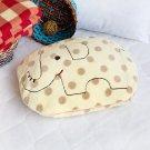 Elephant Coral Fleece Throw Blanket Pillow Cushion / Travel Pillow Blanket