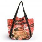 Coffee Cake 100% Cotton Eco Canvas Shoulder Tote Bag / Shopper Bag / Multiple Pockets