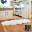 Premium Double Longwool Sheepskin Rug - Steel Grey