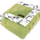 Dr. Seuss Cat in the Hat Green Star Velour Blanket