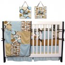 Bubbles Teal 4 Pc Crib Bedding Set w/ Free Frames!