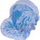 Blue Minky Infant Car Seat Cover