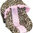 Custom Leopard Infant Carseat Cover