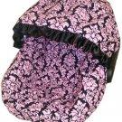Black & Pink Park Ave Infant Car Seat Cover