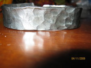 Mens or womens bracelet, hand forged