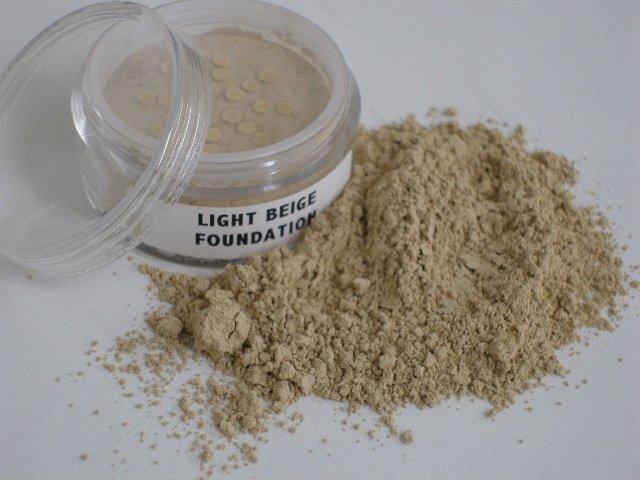 Mineral Makeup Foundation Light Beige 10 Gram Jar