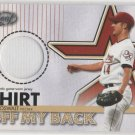 03 Leaf Roy Oswalt Shirt Off My Back Jersey Card #306/500