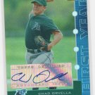 05 Bowmans Best Chad Orvella First Year Auto Blue Parallel # 090/299