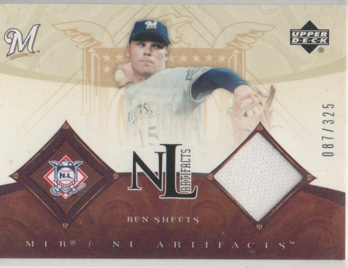 05 UD MLB Artifacts Ben Sheets NL Artifacts 087/325