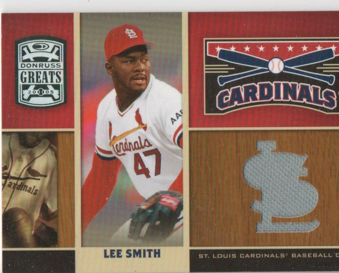 05 Donruss Greats Lee Smith Jersey Card