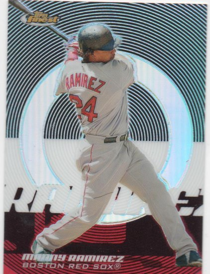 05 Topps Finest Manny Ramirez Refractor Parallel Card # 179/399