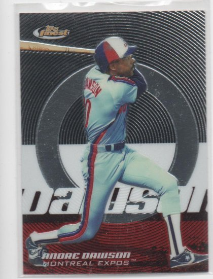 05 Topps Finest Andre Dawson Base Card #166