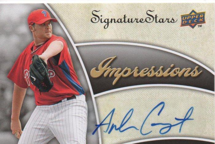 09 UD Signature Stars Impressions Andrew Carpenter Auto Phillies