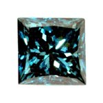 0.25 Carat Princess Cut Blue Diamond I2 Clarity