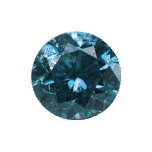 Blue Diamond 0.10 Carat (2.9 mm) SI2 Clarity