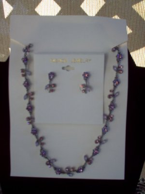 CZ Necklace & Earrings Set
