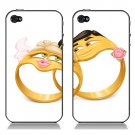 Ring Pattern iPhone 4 Case - Couple Set Back Cover - Super Thin