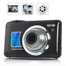 DC-M3 14MP Digital Camera - 4x Zoom 2.7 inch Cam - Black