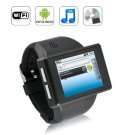 """Capacitive 2"""" Cell Phone Watch - Android 2.2 Smartphone Watch - Black"""