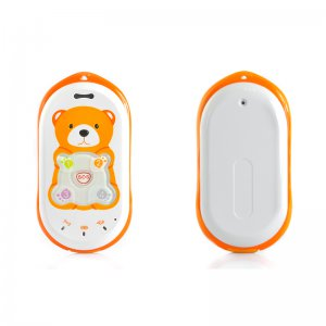 D302 Kids Cell Phone - Quad Band GPS Tracker Children's Mobile Phone - Orange