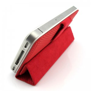 Guoer iPhone 4 4S Mini Smart Case 2GEN - Magnetic Surface Protective Shell - Red