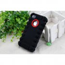 HOCO iPhone 4 /4S Protector Case - Shockproof Crashproof Silicone Back Cover - Black