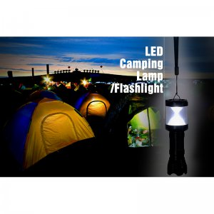 Outdoor Aluminum LED Lamp - 3W Camping Flashlight