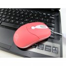 Logic Optical Wheel Mouse - 800dpi USB Wired Mouse - Pink