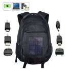 Solar Powered Backpack - 2200mAh External Battery Charger for iPhone Smartphone