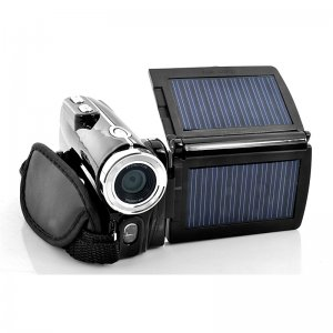 16MP HD DV Video Camera - Dual Solar Panels Charging Camcorder