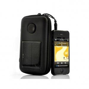 1000mAh Solar Battery Charging Case - Built-in Speaker