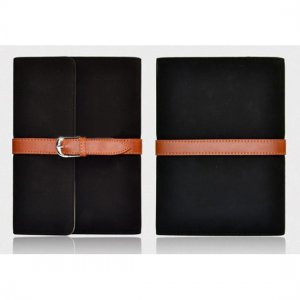 Flip Stand Leather Case For iPad Mini - Black