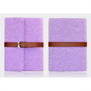 Flip Stand Leather Case For iPad Mini - Purple