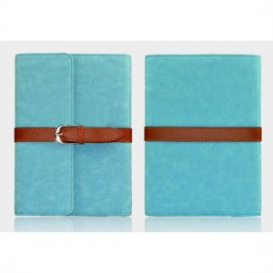 Flip Stand Leather Case For iPad Mini - Blue
