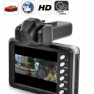 2.8 Inch 30 FPS 720P HD Dual Camera Car DVR  - H.264  Video Compression Car Driving Video Recorder