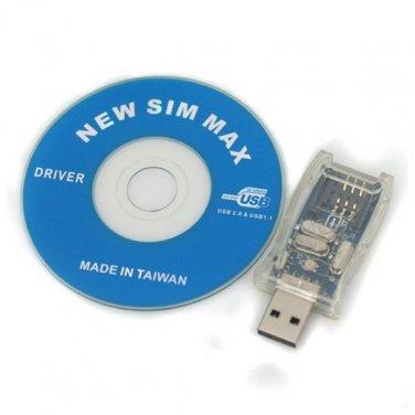 Wholesale High Speed  USB 2.0  SIM Card Writer Max Set - SIM Card Reader + SIM MAX Card