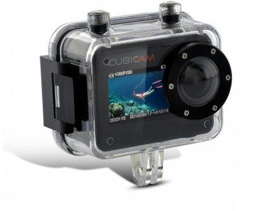 Cubicam 30 FPS 1080P HD Waterproof Sport Camera  -  Multi Mount  Camcorder  HDMI