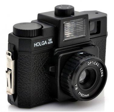 Wholesale Holga 120GCFN Glass Lens Camera - 4-Color Flash Cam
