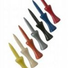 """200  2"""" step down golf tees - Assorted Colors"""