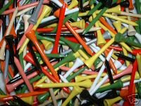 "500  2 1/8"" golf tees  -  Assorted Colors"