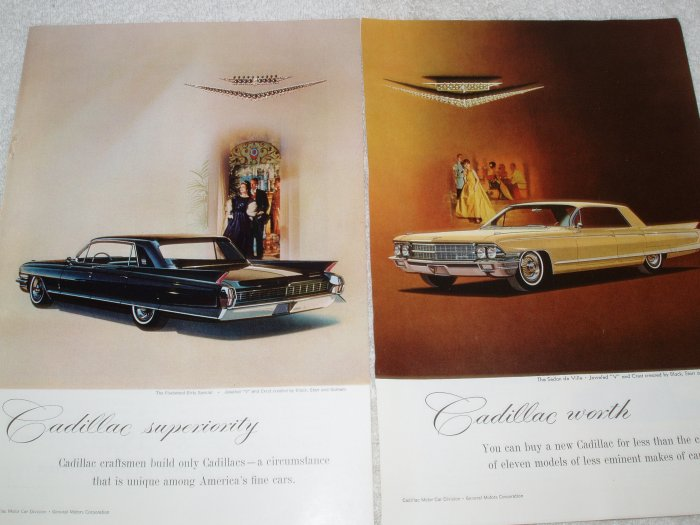 2 Cadillac full page magazine ads  Free Shipping