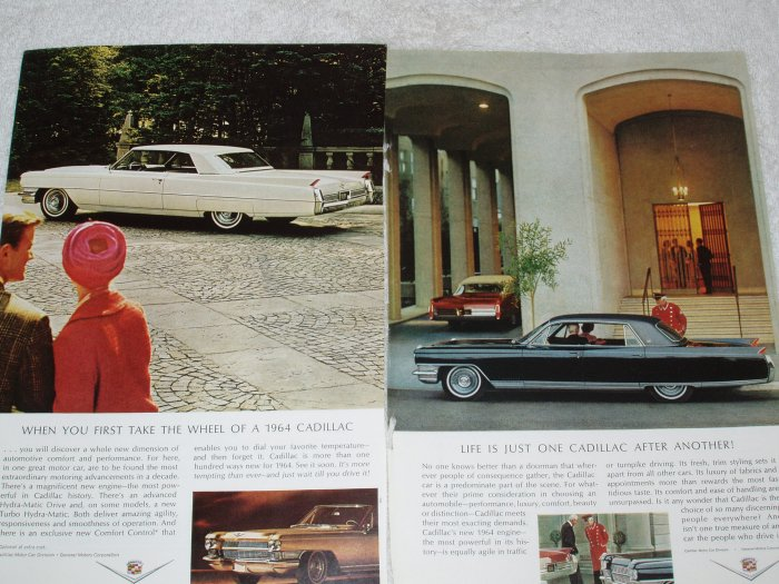 2 Cadillac full page magazine ads  Free Shipping