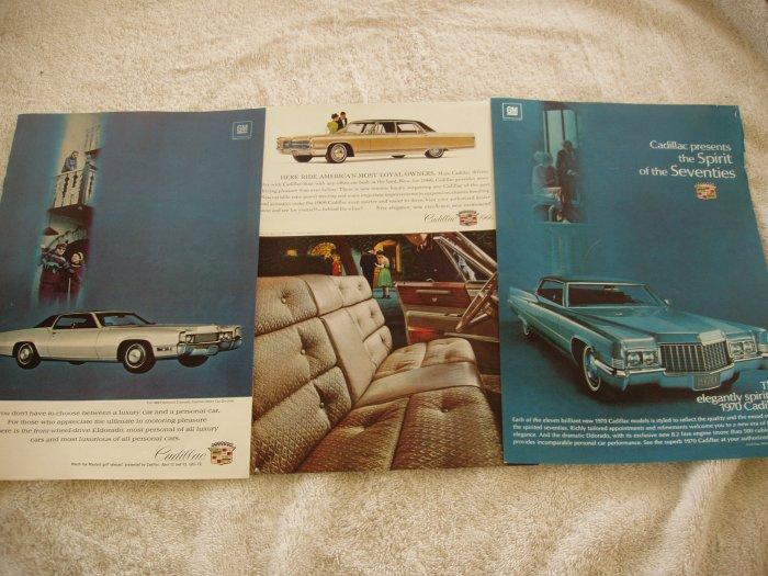 3 Cadillac full page magazine ads  Free Shipping