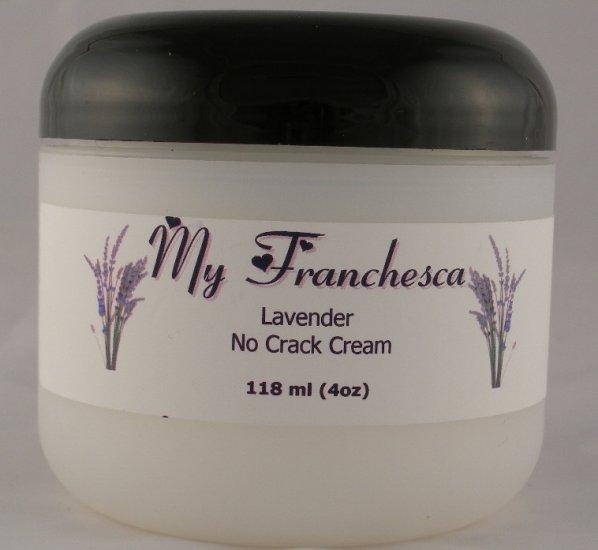 My Franchesca French Vanilla Scented No Crack Cream in a 4oz jar.