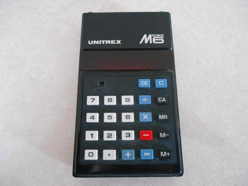 Vintage Unitrex Micro 6 Red LED  Calculator