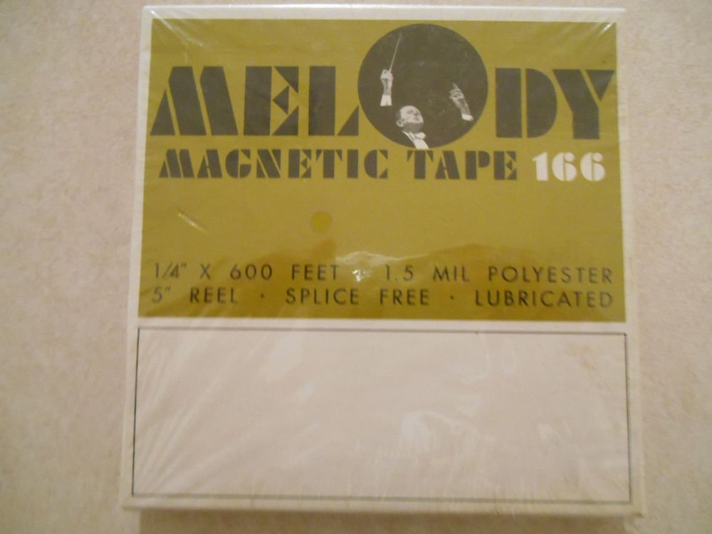 Melody 600 Feet 5 inch reel blank tape 1.5 mil polyester splice free