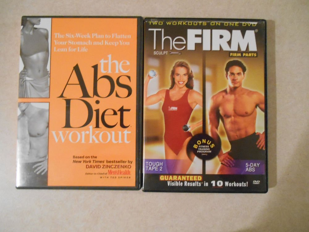 Lot of 2 Abs fitness DVD's